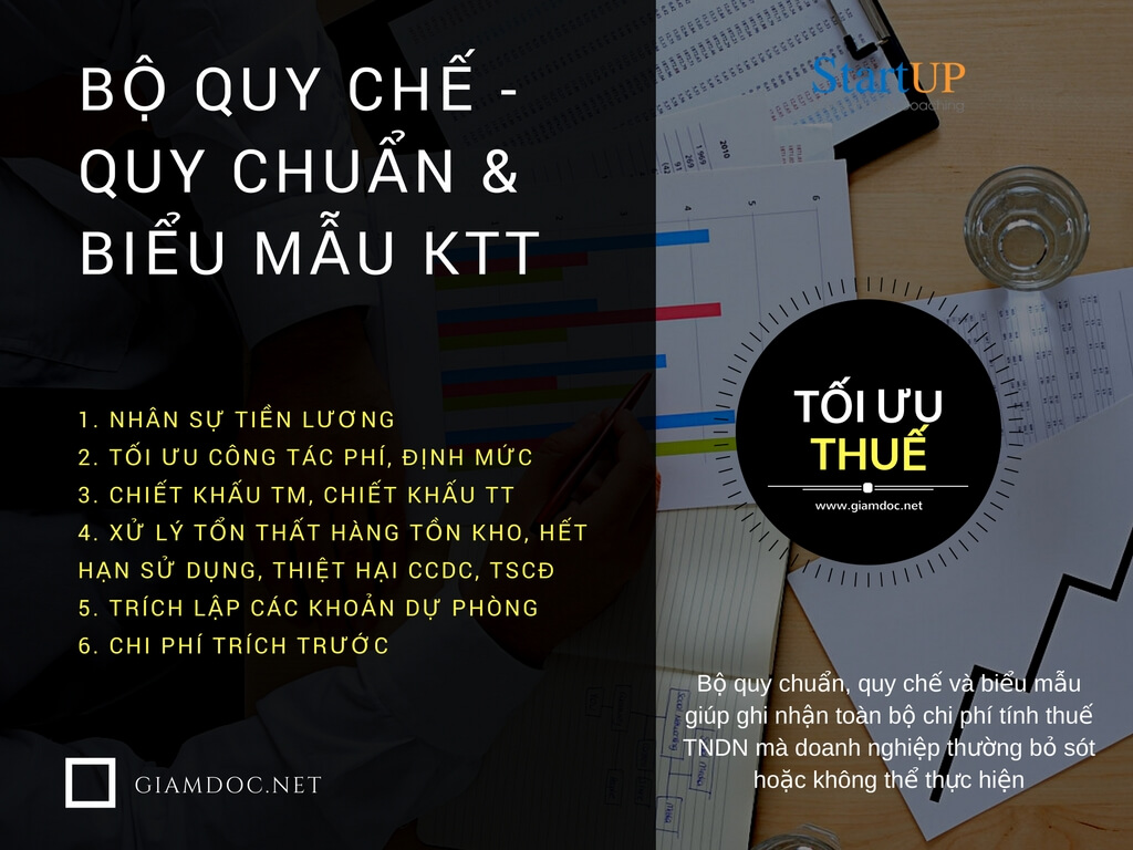 Ke toan thue, toi uu thue, quy che luong, quy che tai chinh